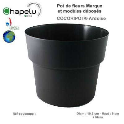 Pot de fleur rond Cocoripot Diam 10.5 cm