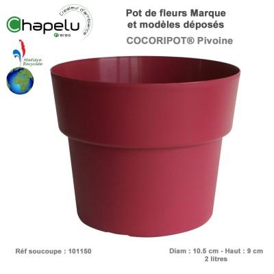 Pot de fleur rond Cocoripot Diam 17 cm