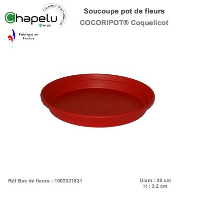 Soucoupe diam 20 cm pour pot de fleur rond 23 cm Cocoripot