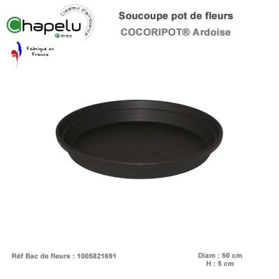 Soucoupe diam 50 pour pot de fleur rond 58 cm Cocoripot