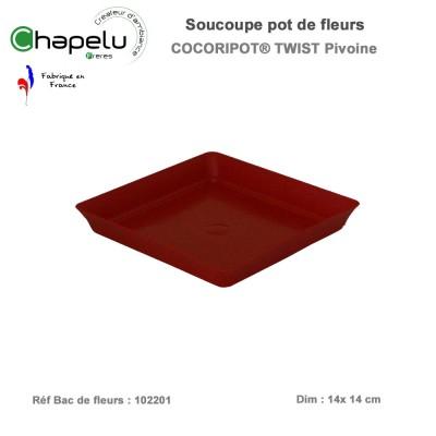 Soucoupe pour pot de fleur design Cocoripot Twist 20 x 20