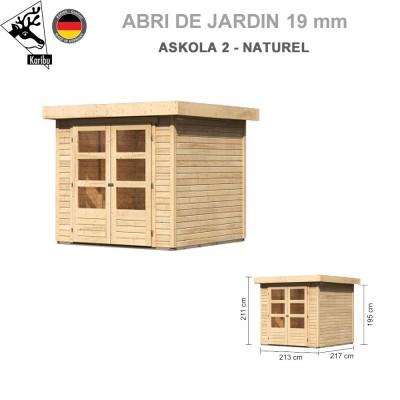 Abri de jardin Askola 2 naturel 2.13x2.17