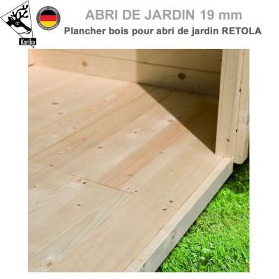Plancher bois pour abri de jardin Retola