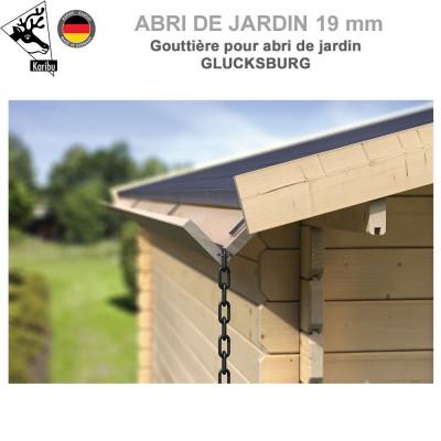 Gouttière bois pour abri à toit plat Glucksburg