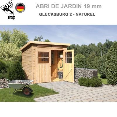 Abri de jardin bois Glucksburg 2 naturel - 203x155