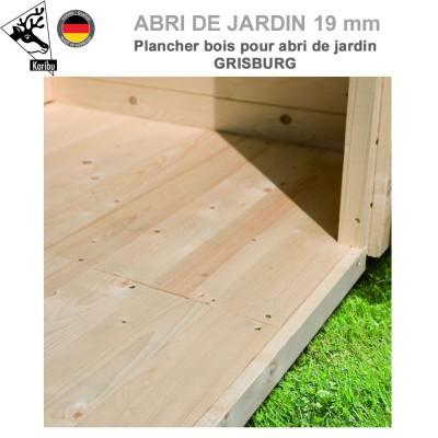 Plancher bois pour abri de jardin Grisburg