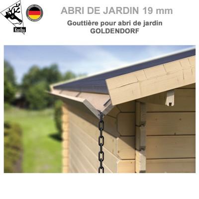 Gouttière bois pour abri à toit plat Goldendorf