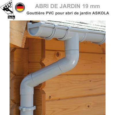 Gouttière PVC pour abri à toit plat