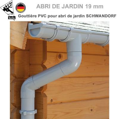 Gouttière PVC pour abri Schwandorf