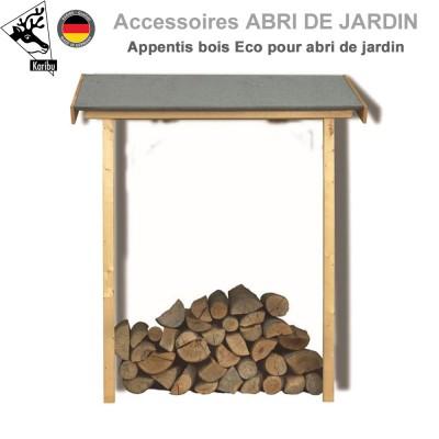Appentis bois Eco pour abri de jardin