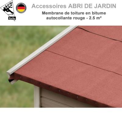 Membrane de toiture en bitume autocollante rouge - 2.5 m²