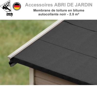 Membrane de toiture en bitume autocollante noir - 2.5 m²