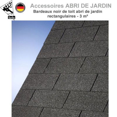 Bardeaux de toit abri de jardin rectangulaires - 3 m²