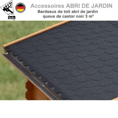 Bardeaux de toit abri de jardin queue de Castor - 3 m²