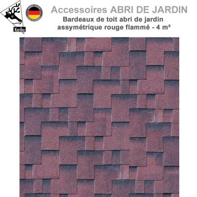 Bardeaux de toit abri de jardin assymétrique - 3 m²