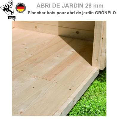 Plancher bois pour abri de jardin Grönelo