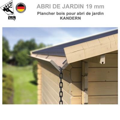 Gouttière bois pour abri à toit plat Kandern