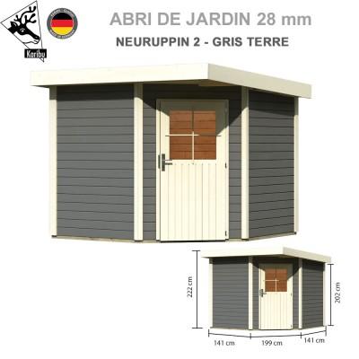 Abri bois Neuruppin 2 gris terre - 244x244