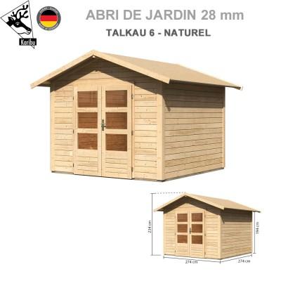 Abri bois Talkau 4 Naturel - 274x274