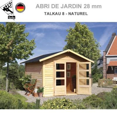 Abri bois Talkau 8 Naturel - 304x304
