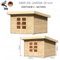 Abri bois Northeim 3 Naturel - 309x309