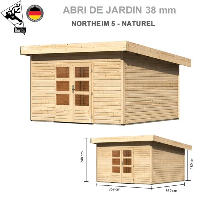 Abri bois Northeim 5 Naturel - 369x369