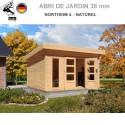 Abri bois Northeim 4 Naturel - 369x309