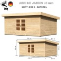Abri bois Northeim 6 Naturel - 494x375
