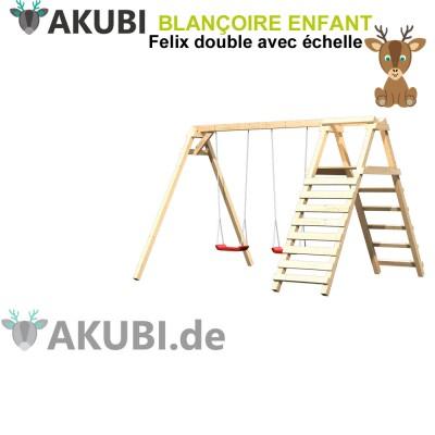 Balançoire bois double avec échelle Felix
