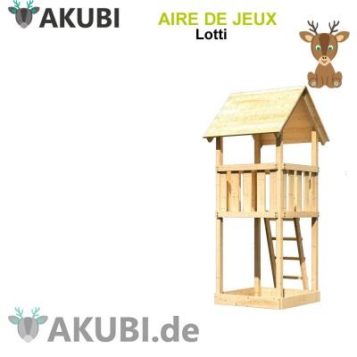 Aire de jeux bois enfant Lotti