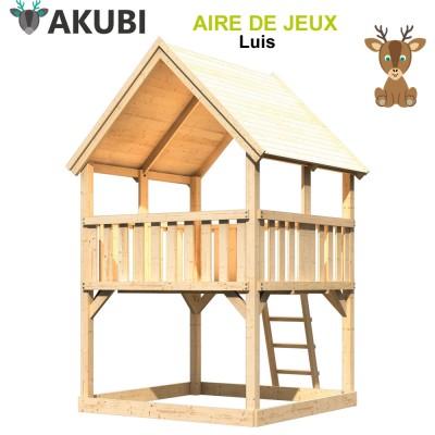 Aire de jeux bois enfant Luis