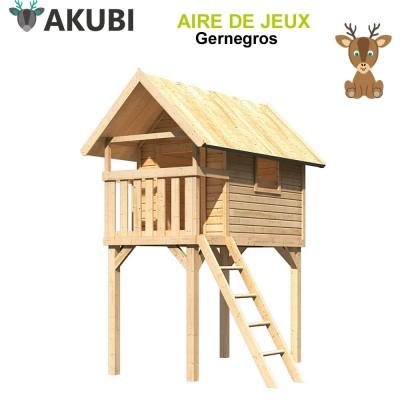 Cabane bois enfant Gernegros