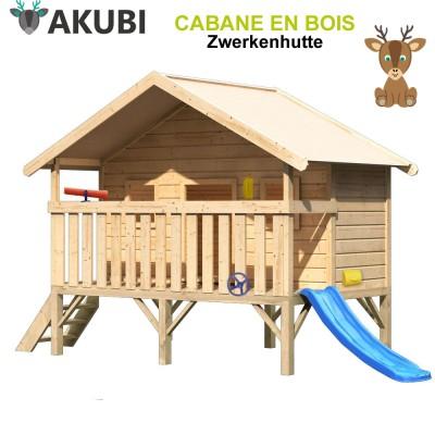 Cabane de jeux bois enfant Zwergenhutte