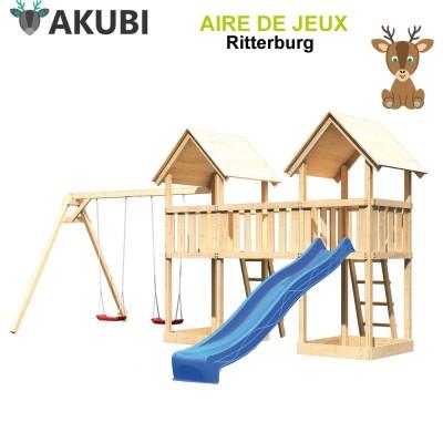 Aire de jeux bois enfant Ritterburg