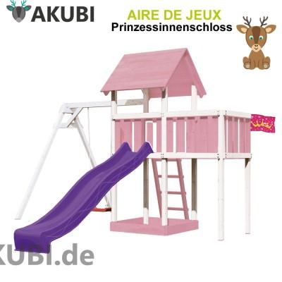 Aire de jeux bois enfant Prinzessinnenschloss