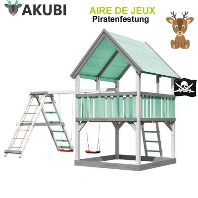 Aire de jeux bois enfant Piratenfestung