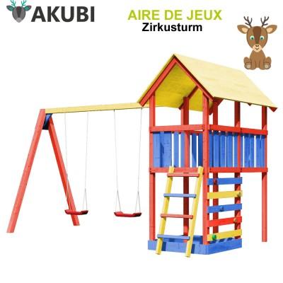 Aire de jeux bois enfant Zirkusturm