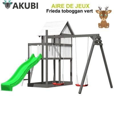Aire de jeux bois enfant Frieda vert