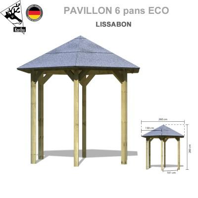 Pavillon de jardin bois Lissabon
