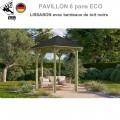 Pavillon jardin bois Lissabon avec bardeaux noirs