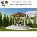 Pavillon jardin bois Madrid avec bardeaux noirs