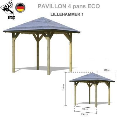 Tonnelle bois - Pavillon de jardin Lillehammer 1