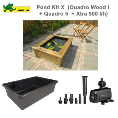 Bassin de jardin complet Pond Kit X Quadro