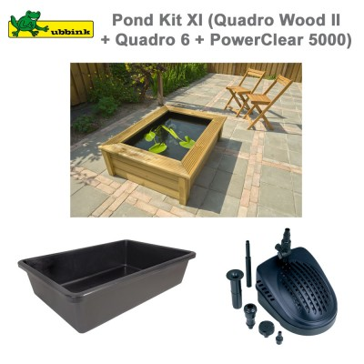 Bassin de jardin complet Pond Kit XI Quadro