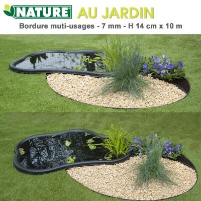Bordure multi-usages de jardin - H 14 cm x 10 m