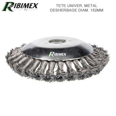Brosse desherbage métal. universelle diam. 200mm