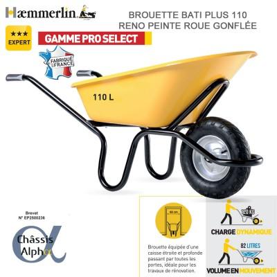 Brouette Bati Plus 110 Reno - Roue gonflée