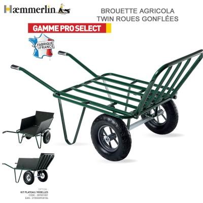 Brouette Fourragère Agricola TWIN 2 - Roues gonflées