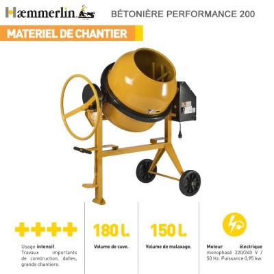 Bétonnière électrique Performance 200