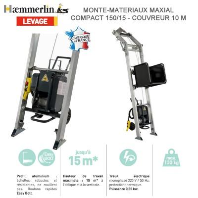 Monte-matériaux Maxial compact 150/15- Couvreur 10 M